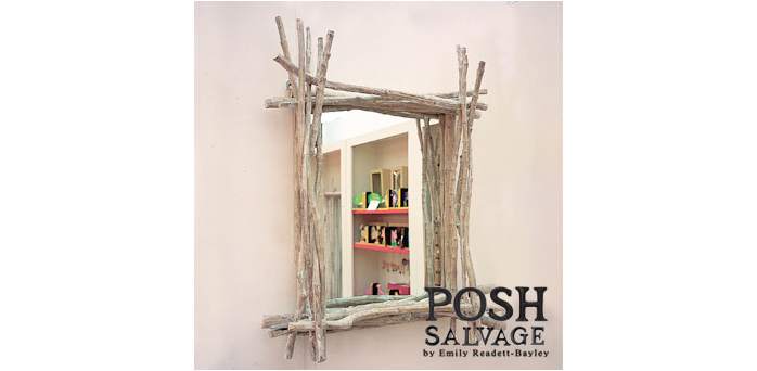 Faux Driftwood Square Frame