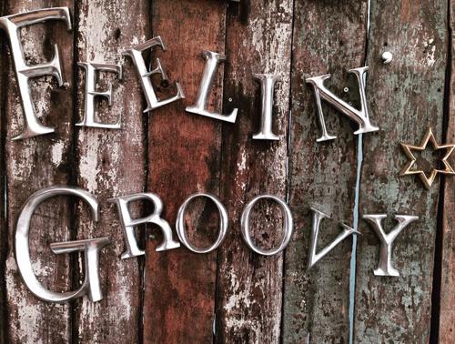 feelin groovy silver Letters