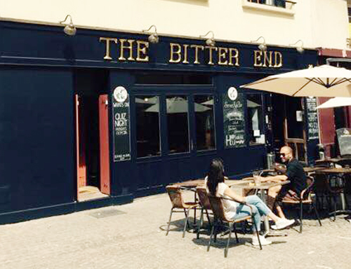the bitter end, pub sugn letters