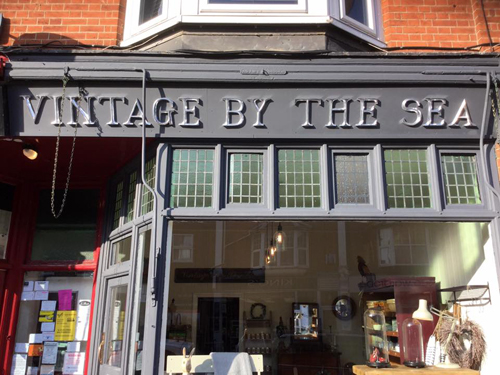Vintage By The Sea, shop sign letters
