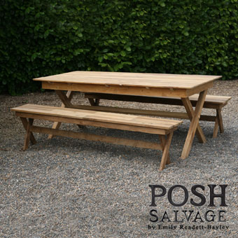 Strange Reclaimed Teak Picnic Table And Bench Set Emily Readett Bayley Cjindustries Chair Design For Home Cjindustriesco