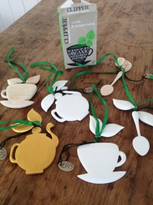 Clipper Teas Decorations for Kallo Foods by Emily Readett-Bayley