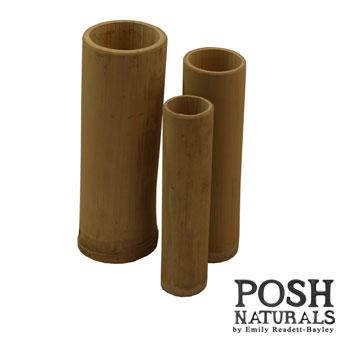 Bamboo Vase Set of Three