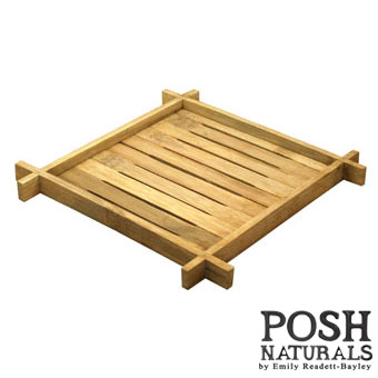 POSH Salvage Bamboo Square Plate Stand