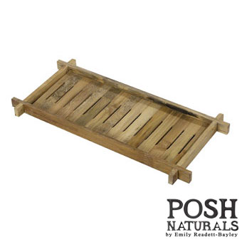 POSH Salvage Bamboo Long Plate Stand