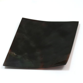 POSH Salvage Hand Cut and Polished Dark Brown Shell Diamond Dish