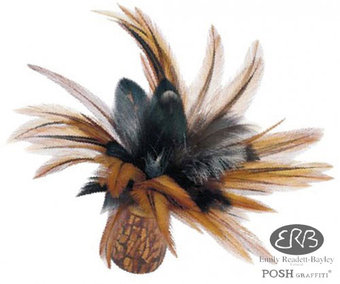 Balinese Cockerel Feather Computer Brush or Tickler