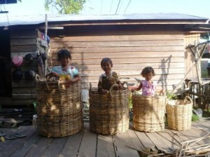 wicker rattan baskets