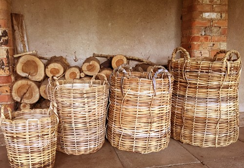 Natural Rattan Wicker Basket Set of Four £250