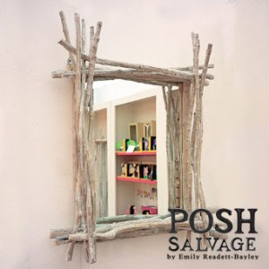 POSH Salvage Faux Driftwood Square Frame