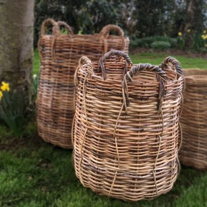 Large Rattan Wicker Log Basket