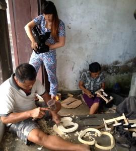 Shooting video at POSH Graffiti craft co-ops in Bali