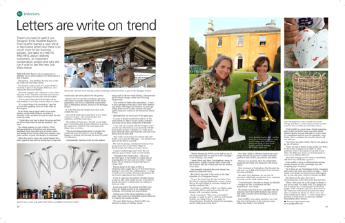 Letters are write on trend! Nottinghamshire Today June 2015