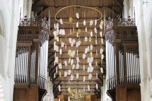 Emily's celestial host are flying high in St Alban's Cathedral