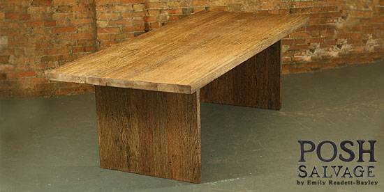 Reclaimed Hardwood Table