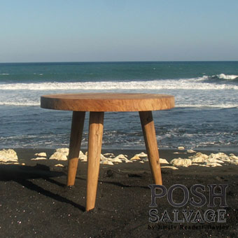 Reclaimed Teak Table – round