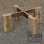 Reclaimed Teak Coffee Table with cross legs