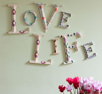 hand painted floral letters