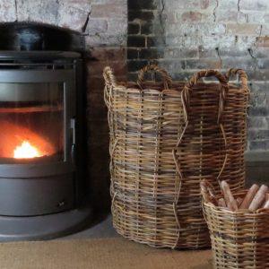 Giant strong Wicker Basket | Large Log Basket