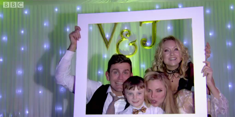 POSH Graffiti letters used on set in Eastenders TV wedding