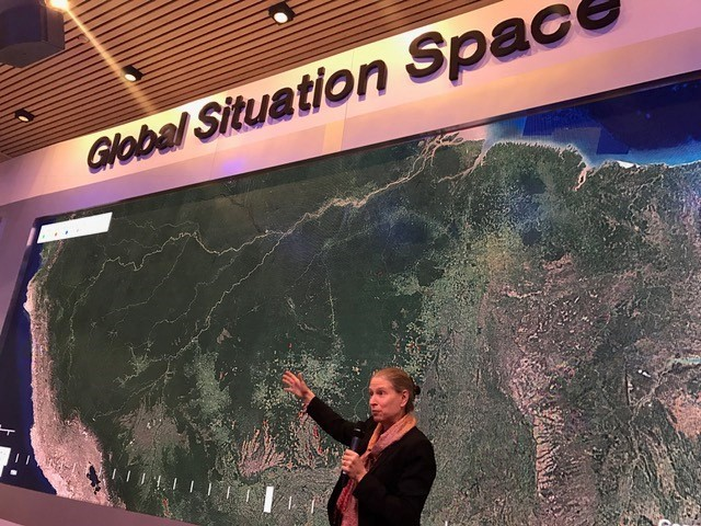 Frances Seymour speaks at Davos 2017 Photo by Gianina Caviezel
