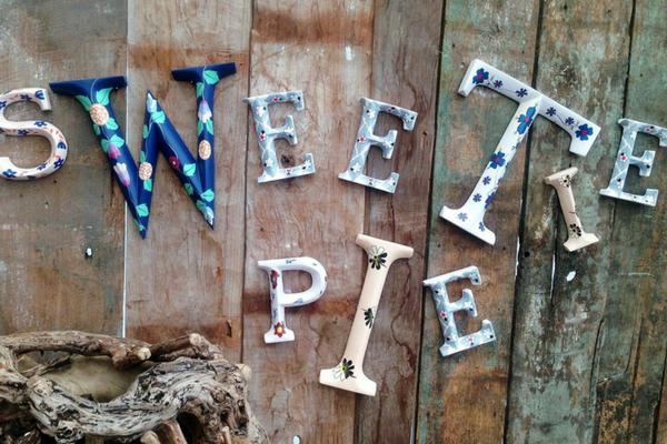 Sweetie pie letters