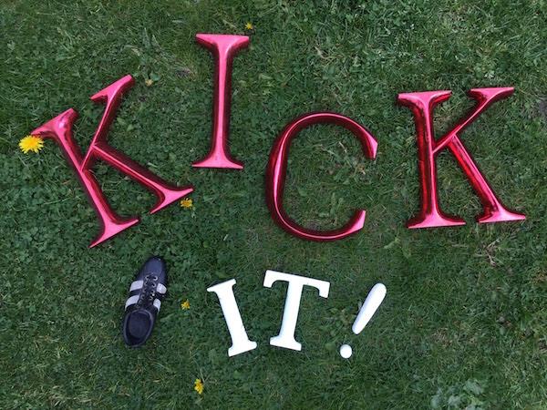 kick it letters