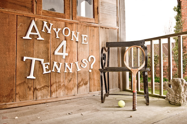 anyone for tennis letters