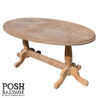 Antique Teak Oval Table