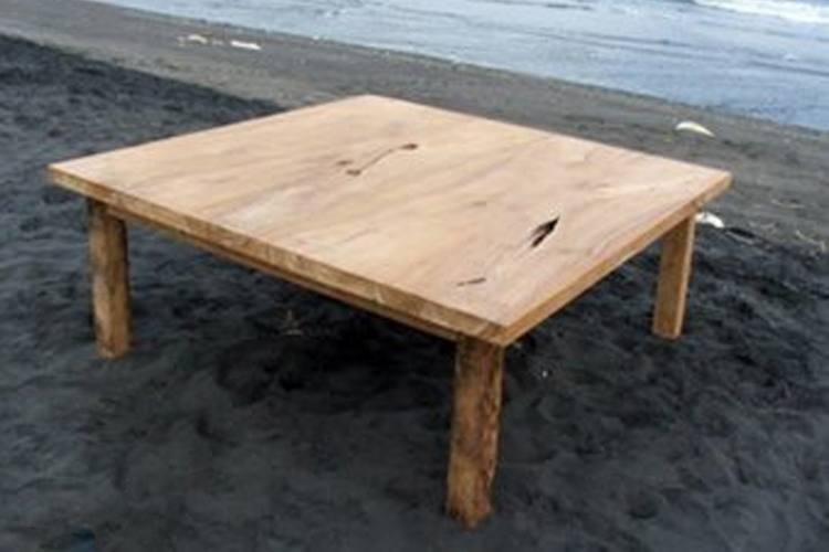 Rare, Reclaimed Teak Table made from very wide timbers