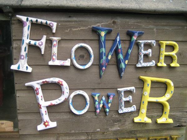 flower power letters