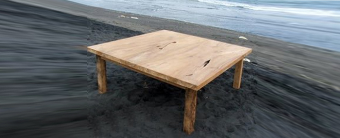 Reclaimed Teak Tables by Emily Readett-Bayley