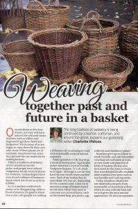 weaving together past and future in a basket
