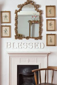 wooden letters - blessed