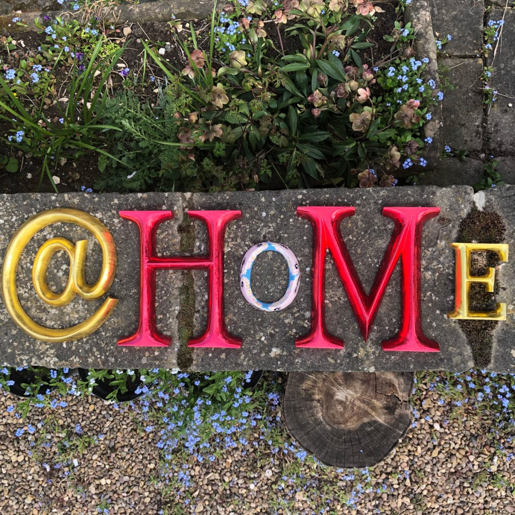 POSH Graffiti - safely back at home. Click here to order our hand carved wooden typography online POSHGraffiti.com