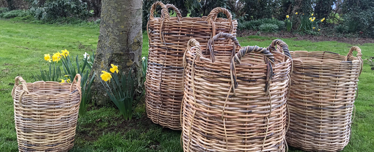 rattan wicker baskets