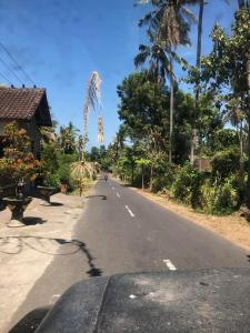 On the road in East Bali